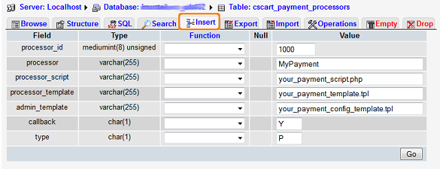 Knowledge base :: Payment methods :: Integrating CS-Cart with a new